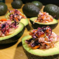 Avocado Filled With a Colorful Confetti of Sweet and Tangy Vegetables