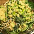 juicy all green super bowl salad loaded with healthy goodness