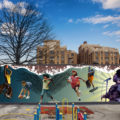 Cecil B Moore Recreation Center Playground Mural Mockup