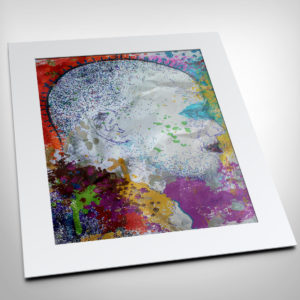 Malcolm X Colorful Mugshot Drawing Print For Sale