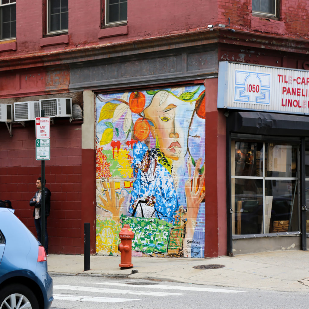 Sunkist Mural in Philadelphia