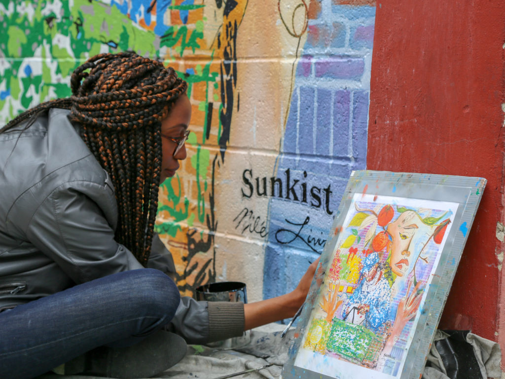 Black Women Mural Artist