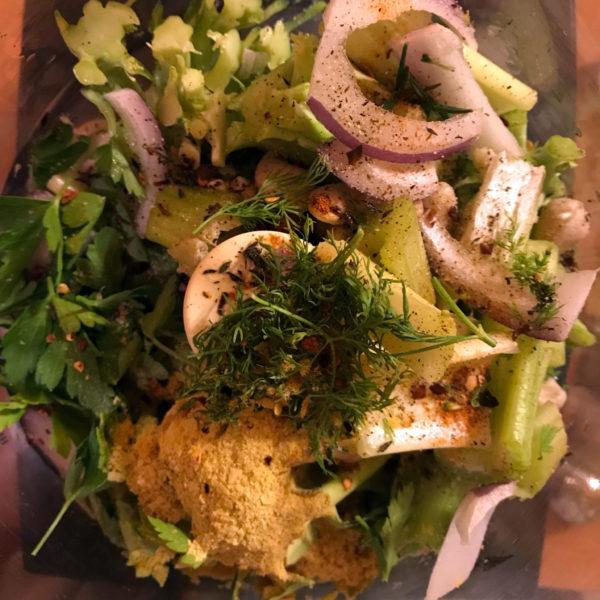 fresh nutritious greens raw vegan food processor recipe