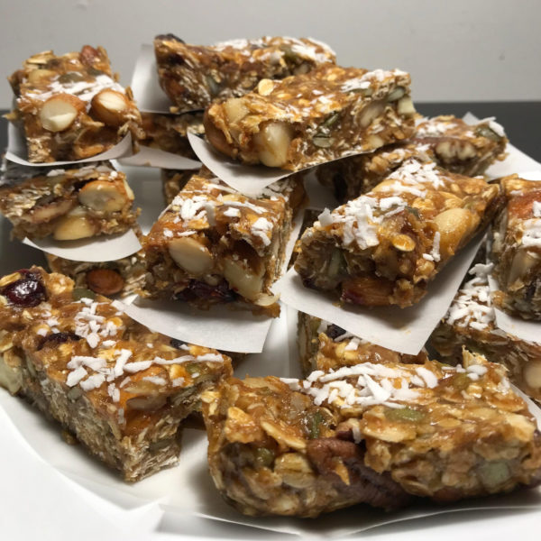 homemade raw vegan granola bar