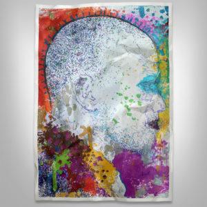 artistic side profile view of civil rights activist malcolm x