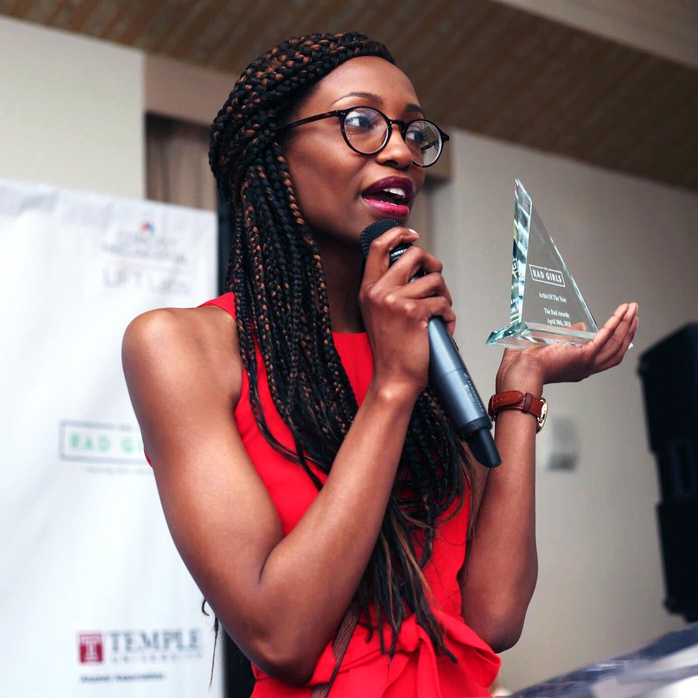 Artist of the Year Nile Livingston Rad Girls Award Philadelphia