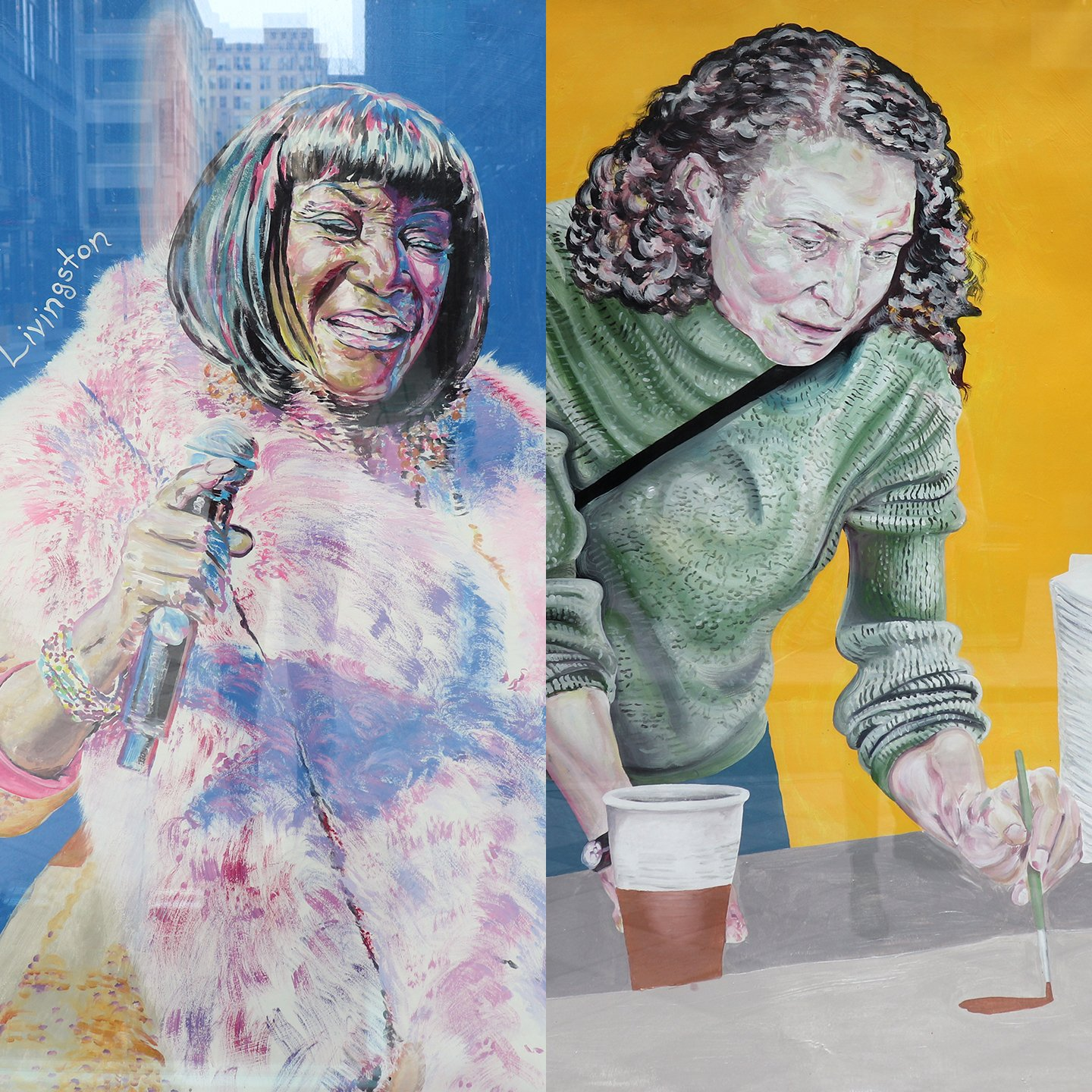 Iconic Women Leaders Sisterly Love Painting Philadelphia Street Art Nile Livingston