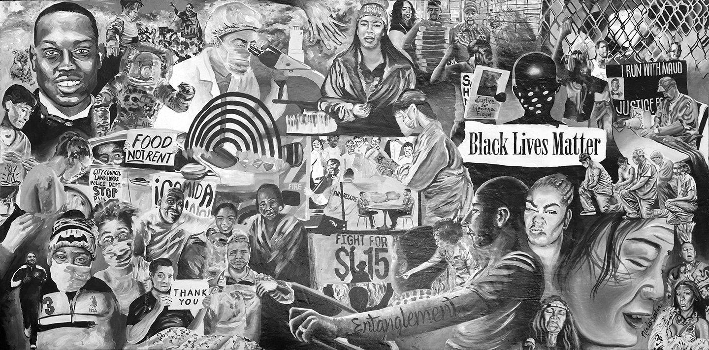 Entanglement Mural 2020 Painting Art Nile Livingston